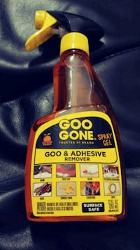 Goo gone for removing gum, goo, stickers, crayons,