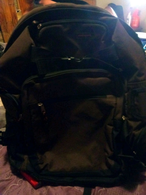 Used black and blue leather backpack for sale in Jonesboro - letgo 4f40f693562d3