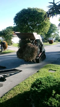 Trash removal and Bobcat service