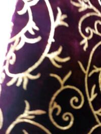 velvet Merlot colored material with beautiful gold Embellishments  White Lake charter Township, 48386