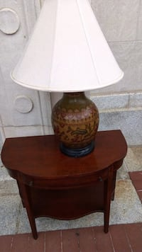 brown and white table lamp Burke, 22015