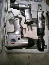 two gray stainless steel air impact wrenches and air ratchet Hemet, 92544