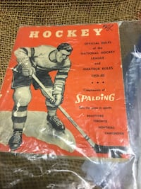 1959 1960 official NHL rules Pickering, L1V