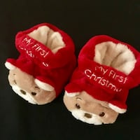 Never Used!  Infant Size 1-2 My First Christmas Slippers Glendale, 85302