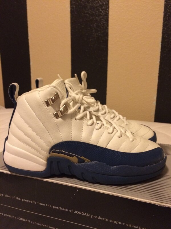 1a3e38170ad Used Air Jordan French Blue 12s - 5Y for sale in Stockton - letgo