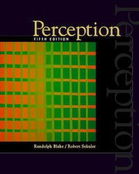 Perception (5th Edition)- By Blake and Sekuler - Excellent Cond. Mississauga