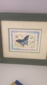 two black and white birds painting with white wooden frame Waukegan, 60085