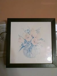 white petaled flower painting with black wooden frame Finksburg