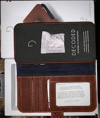 Brand New Decoded leather wallet case. For iPhone X. This does has issue fitting the iPhone XS Back camera. Paid $85 so i am selling it for half price. Vancouver