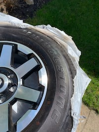 Alloy wheels and Bridgestone dueler h/t 684ii 265/70r17 tires  Mississauga