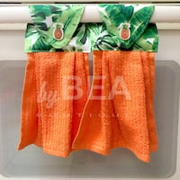 Two (2) pineapple buttons kitchen towels - orange  Tampa, 33612