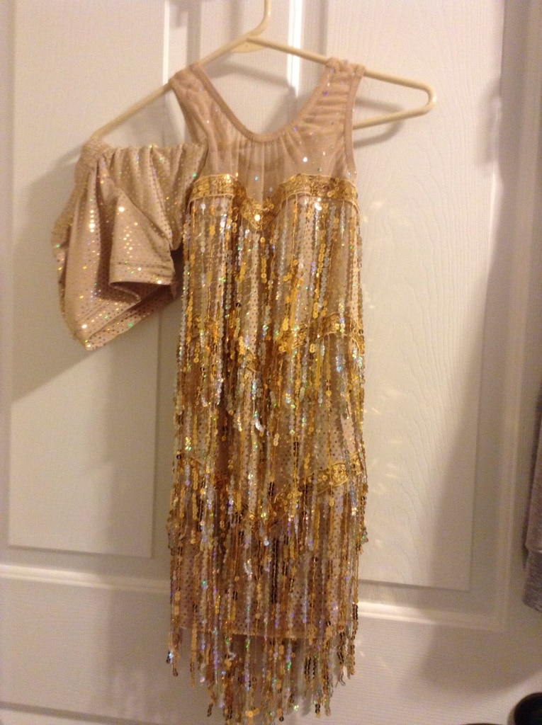Photo Girls stretch flapper dress with shorts. Size 8 to 12. Very stretchy..