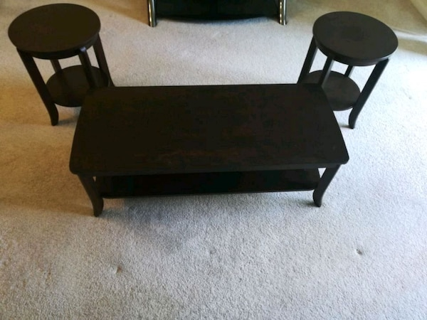 Used Coffee Table With 2 Side Tables For Sale In Elk Grove Village