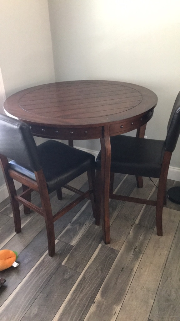 used pub table with 4 chairs for sale in newnan letgo rh gb letgo com