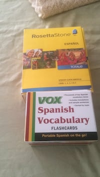 Rosetta Stone Spanish learning cd plus Spanish vocabulary cards West Greenwich, 02817