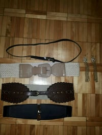 Belts size s/m and earrings Toronto, M9P 3R1