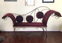 REDUCED!! Bench.Hand crafted one-of-a-kind iron and upholstered bench Virginia Beach, 23462