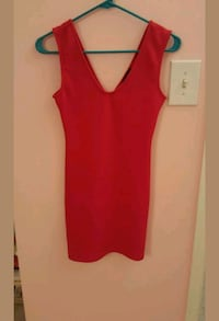 F21 bodycon women's red sleeveless mini dress