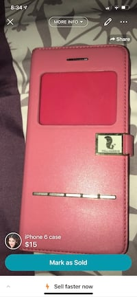 pink leather bi-fold wallet Cambridge, N1T 1M1