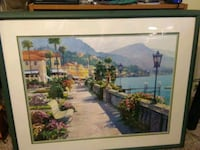 brown wooden framed painting of house Las Vegas, 89156