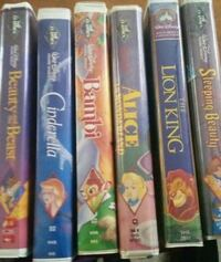 6 rare vhs diamond collection dismey movies Waterville, 04901