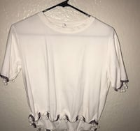 white scoop-neck long-sleeved shirt Hacienda Heights, 91745