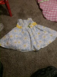baby's white and yellow floral onesie Johnson City