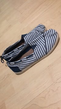 Blue and white striped Slip on shoes