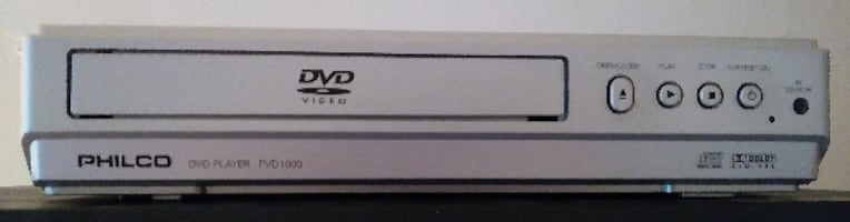 DVD Player with Remote - Philco Model PVD1000 - Te