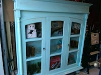 ANTIQUE DISTRESSED CURIO CABINET Arlington