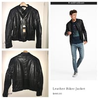 "SCOTCH & SODA New Leather ""Biker"" jacket for men Stockholm, 115 42"