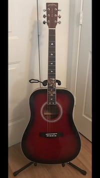 New Acoustic Guitar, Two Guitar Straps, and Case Odenton, 21113