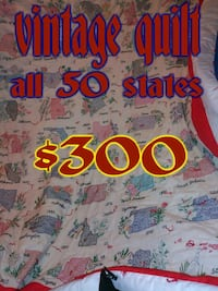 Vintage hand made quilt USA