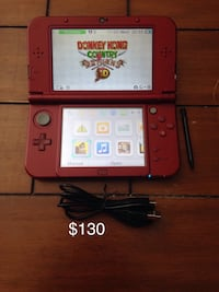 Nintendo New 3ds xl with charger stylus and 4gb sd card