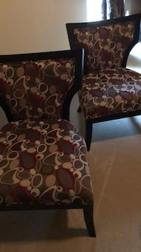 two brown-and-black floral padded chairs McKinney, 75070