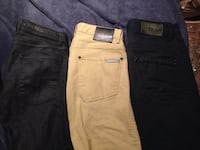 two black and brown denim jeans Edmonton, T5W 4A7