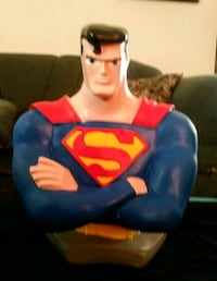 "Superman 10"" ceramic coin piggy bank"