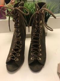 Military suede zip up boots  Doral, 33198