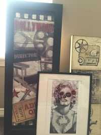 portrait of Marilyn Monroe with black wooden frame