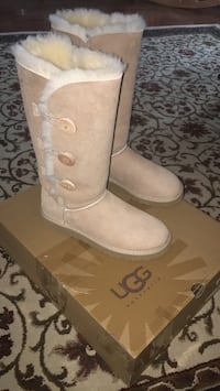 Tall sand Ugg's with buttons  Toms River, 08755