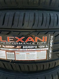 245 45 18 LEXANI TIRES $170EACH Vaughan, L4L