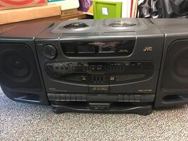 JVC Twin CD, dual cassette stereo system with remote.