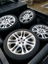 "4, 18"" Volvo Zubra wheels with Goodyear Eagle GT tires Falls Church"