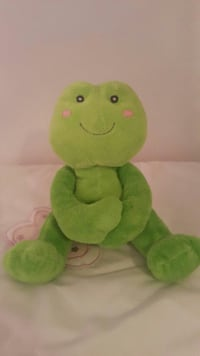 green frog plush toy