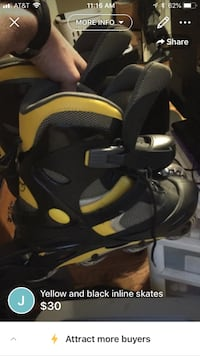 pair of black-and-yellow inline skates Lafayette, 70506