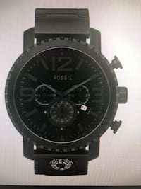 Fossil chronograph black dial stainless steel compass watch Burnaby, V5A 4T6