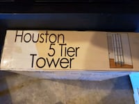 glass tower/shelving New in box