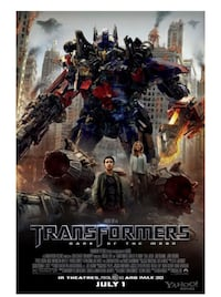 Transformers 3 Movie Theatre Poster Wasaga Beach