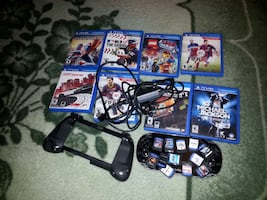 black Sony PSVITA with 12assorted games 300