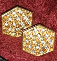 Earrings Clip-on  14 karat gold overlay and crystal diamonds   Silver Spring, 20905